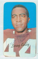 Leroy Kelly AUTOGRAPH 1970 Topps Football SUPERS Browns HOF '94 CARD IS CLEAN EXMT