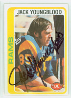 Jack Youngblood AUTOGRAPH 1978 Topps Football #265 Rams HOF '01 CARD IS CLEAN EX  [SKU:YounJ52230_T78FB]