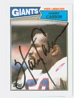 Harry Carson AUTOGRAPH 1987 Topps Football #25 Giants HOF '06 