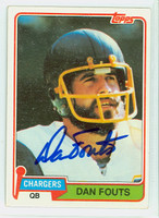 Dan Fouts AUTOGRAPH 1981 Topps Football #265 Chargers HOF '93 CARD IS CLEAN EX  [SKU:FoutD52312_T81FB]