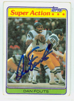 Dan Fouts AUTOGRAPH 1981 Topps Football #153 In Action Chargers HOF '93 CARD IS VG; AUTO CLEAN  [SKU:FoutD52312_T81IA]