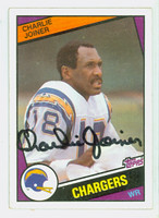 Charlie Joiner AUTOGRAPH 1984 Topps Football #181 Chargers HOF '96 CARD IS SHARP EXMT  [SKU:JoinC52069_T84FB]