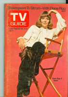 1973 TV Guide Oct 6 Diana Rigg Los Angeles edition Excellent - No Mailing Label  [Lt toning along binding and cover, ow clean]