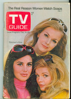 1970 TV Guide Feb 14 Bracken's World Wisconson edition Very Good - No Mailing Label  [Sl loose at staples, scuffing and wear on cover; contents fine]