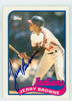 Jerry Browne AUTOGRAPH 1989 Topps Indians 