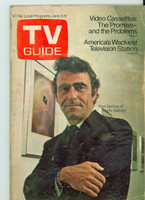 1972 TV Guide June 3 Rod Serling of Night Gallery Montana edition Very Good  [Wear and creasing on cover, label removed, contents fine]