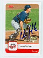 Chris Heintz AUTOGRAPH 2006 Fleer Twins 