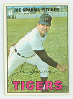 1967 Topps Baseball 13 Joe Sparma Detroit Tigers Excellent to Excellent Plus
