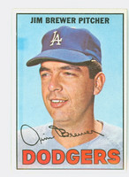 1967 Topps Baseball 31 Jim Brewer Los Angeles Dodgers Near-Mint to Mint