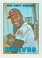 1967 Topps Baseball 35 Rico Carty Atlanta Braves Near-Mint Plus