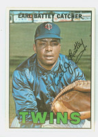 1967 Topps Baseball 15 Earl Battey Minnesota Twins Near-Mint