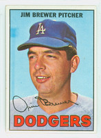 1967 Topps Baseball 31 Jim Brewer Los Angeles Dodgers Near-Mint