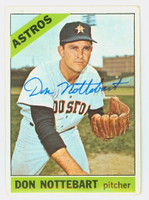 Don Nottebart AUTOGRAPH d.07 1966 Topps #21 Astros CARD IS G/VG; LT CREASE, AUTO CLEAN  [SKU:NottD1270_T66BBCOM]