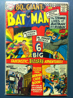 BATMAN #182 The Villan of 100 Elements (Giant - 80 pgs) Jul 66 Very Good Wear and scuffing on cover, wear along binding with sl paper loss; contents fine