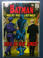 BATMAN #206 Batman Walks the Last Mile Nov 68 Very Good Wear and scuffing on cover, wear along binding, contents fine