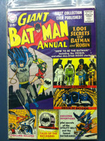 BATMAN #1 ANNUAL 1001 Secrets of Batman and Robin (Giant - 80 pgs) Aug 61 Good Wear on cover, small tear and bruise; wear along binding; contents fine