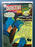 DETECTIVE COMICS ft: BATMAN & ROBIN #366 The Round-Robin Death Threats Aug 67 Very Good Heavy wear on cover, creasing, wear along binding; contents fine