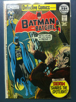 DETECTIVE COMICS ft: BATMAN & BATGIRL #415 Challenge of the Consumer Crusader Sep 71 Very Good Heavy wear on cover, creasing, wear along binding; contents fine