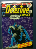 DETECTIVE COMICS ft: BATMAN & ROBIN #436 The Night Has a Thousand Fears Sep 73 Very Good Wear and creasing on cover, contents fine