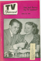 1950 TV Forecast April 29 Lucky Letters (Game Show) (32 pgs) Chicago edition Very Good to Excellent