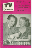 1950 TV Forecast April 29 Lucky Letters (Game Show) (32 pgs) Chicago edition Very Good - No Mailing Label