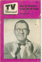 1950 TV Forecast July 22 Ransom Sherman (32 pgs) Chicago edition Good to Very Good - No Mailing Label