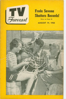 1950 TV Forecast August 19 Acrobat Ranch (32 pgs) Chicago edition Very Good