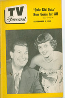 1950 TV Forecast September 9 Don McNeil (32 pgs) Chicago edition Very Good to Excellent - No Mailing Label