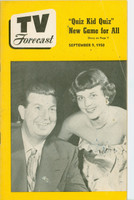 1950 TV Forecast September 9 Don McNeil (32 pgs) Chicago edition Very Good - No Mailing Label