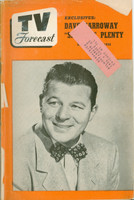 1950 TV Forecast September 30 Jack Carson (48 pgs) Chicago edition Fair to Good  [Cover completely split and detached]