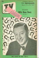 1951 TV Forecast March 17 Billy Rose (40 pgs) Chicago edition Good to Very Good