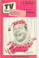 1951 TV Forecast April 21 Milton Berle (40 pgs) Chicago edition Very Good