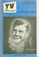 1951 TV Forecast April 28 Arthur Godfrey (40 pgs) Chicago edition Very Good to Excellent - No Mailing Label