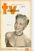 1951 TV Forecast June 30 Peggy Lee (48 pg) Chicago edition Very Good to Excellent