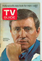 1969 TV Guide Aug 16 Merv Griffin Missouri edition Good to Very Good - No Mailing Label  [Lt toning on cover along binding, lt wear and rusting at staples; contents fine]
