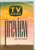 1960 TV Guide Sep 24 Fall Preview Illinois edition Excellent - No Mailing Label  [Lt wear on cover, ow very clean]