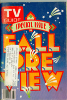 1980 TV Guide Sep 13 Fall Preview New Jersey - Pennsylvania edition Very Good to Excellent  [Scuffing and wear on cover; sl loose at one staple; contents fine]