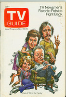 1971 TV Guide November 20 All in the Family (Cover by Jack Davis) Louisiana edition Very Good - No Mailing Label  [Sl loose at staples, staple rust; toning on cover, contents fine]