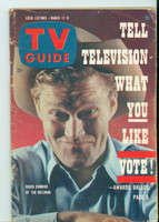 1960 TV Guide Mar 12 The Rifleman Colorado edition Very Good to Excellent - No Mailing Label  [Wear on cover and binding; contents fine]
