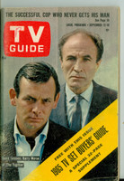 1964 TV Guide Sep 12 The Fugitive Wisconson edition Very Good to Excellent - No Mailing Label  [Wear and creasing on cover, WRT in logo; contents fine]
