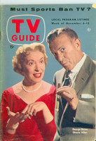 1954 TV Guide Nov 6 Burns and Allen Illinois edition Very Good to Excellent - No Mailing Label  [Lt wear and creasing on cover; contents fine]
