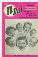 1951 TV Dial Sep 29 Ruth Lyons (32 pages) Cincinnati-Dayton edition Very Good  [Wear, lt staining and creasing on cover; contents fine]
