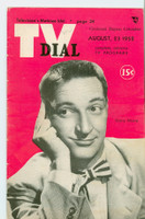 1952 TV Dial Aug 23 Garry Moore (32 pages) Cincinnati-Dayton edition Very Good to Excellent - No Mailing Label  [Lt wear on cover, stray pencil mark; ow very clean]