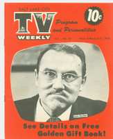 1954 TV Weekly Mar 8 Gale Gordon of Our Miss Brooks (16 pages) Salt Lake City edition Near-Mint - No Mailing Label  [Very lt wear on covers, ow very clean]