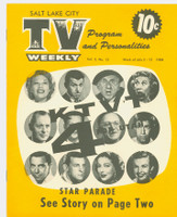 1954 TV Weekly Jul 5 TV Star Parade (Dinah, Loretta, Young…) (16 pages) Salt Lake City edition Excellent to Mint - No Mailing Label  [Very lt wear, ow very clean]