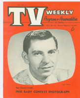 1954 TV Weekly Aug 23 Jack Webb (16 pages) Salt Lake City edition Excellent to Mint - No Mailing Label  [Very lt wear, ow very clean]