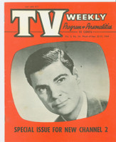 1954 TV Weekly Sep 20 Bert Parks (20 pages) Salt Lake City edition Very Good to Excellent - No Mailing Label  [Lt creasing, wear and minor staining on both covers; contents fine]
