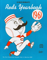1961 Reds Yearbook NL Pennant Winners (82 pg) Excellent Lt wear on cover, ow very clean