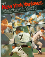 1969 Yankees Yearbook - Last Mickey Mantle Cover Near-Mint Lt wear on cover, contents fine