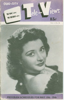 1951 TV Televiews May 19 Mimi Benzell (20 pg) Quad City edition Very Good to Excellent  [Lt moisture stain on cover, contents fine]